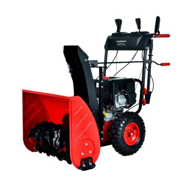 PowerSmart PSS2240 HD 24 inch 212 cc Two Stage Gas Snow Blower with Electric...