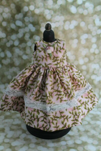 Pink Floral Doll Dress for Dianna Effner Dolls And Other 13quot; Dolls