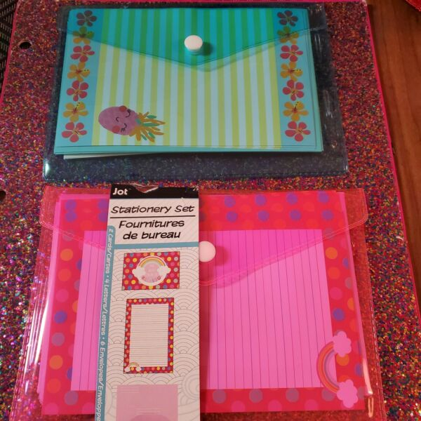 💜 Stationary Set Pink And Blue Lot 2 $8.99