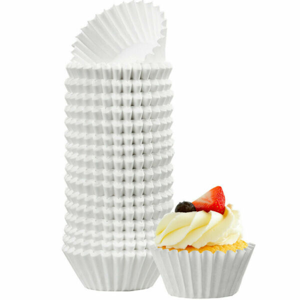 500pc White Cupcake Liners Mini Muffin Liners Wrappers Paper Baking Cups