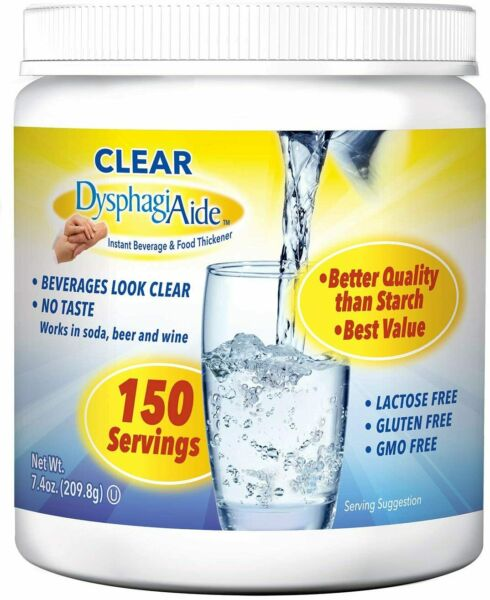 Clear Instant Beverage amp; Food Thickener Powder Dysphagia Aide Free Ship 3 2022 $12.50