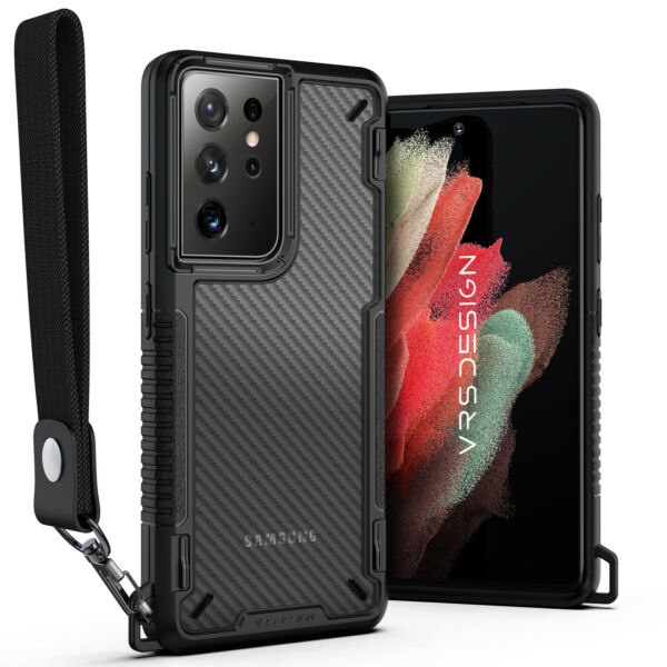 For Galaxy S21 Ultra Case VRS® Crystal Mixx Pro Carbon Pattern Clear Cover $14.99