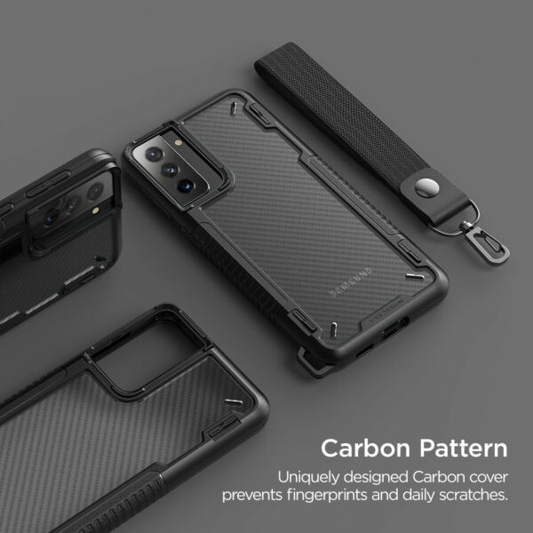 For Galaxy S21 Plus Case VRS® Crystal Mixx Pro Carbon Pattern Clear Cover $14.99