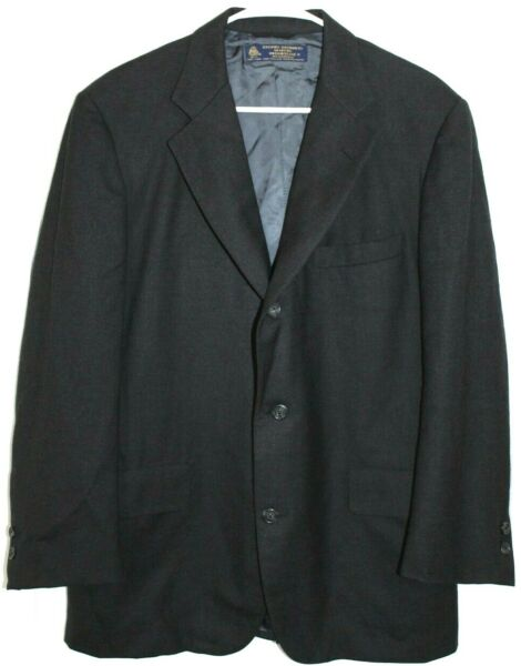 Vtg BROOKS BROTHERS 3 2 Roll Suit Men#x27;s 40S 32x28.5 Gray Flannel Wool Made USA $99.99