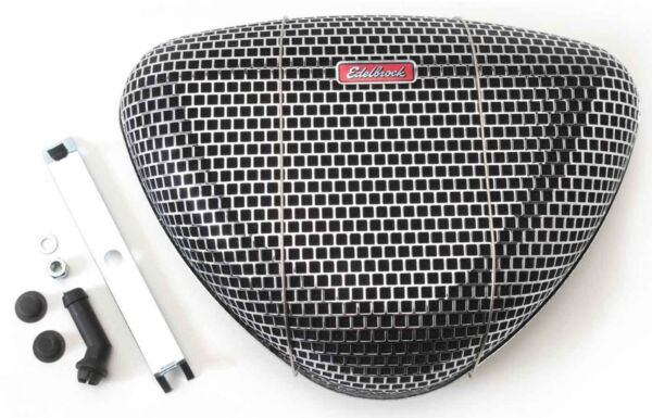 EdelBrock 1002 Air Cleaner Pro Flo 1000 Triangular Fits SBC BBC SBF Chevy Ford $34.40
