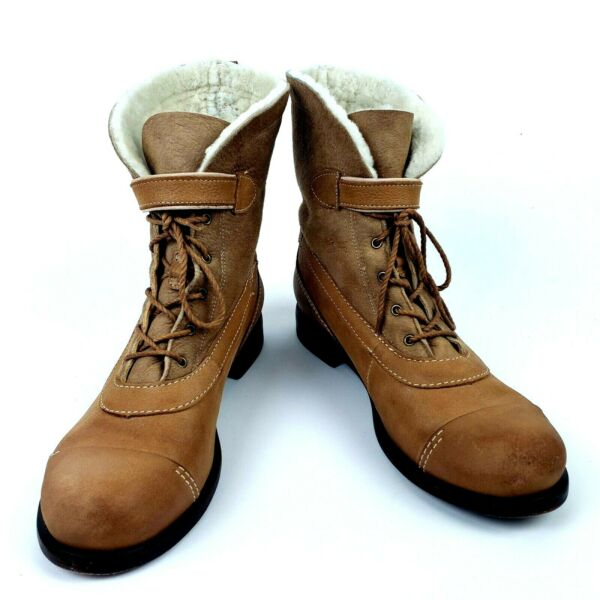 Timberland Womens Boots Size 9 M Lucille Shearling Tan Fold Down $75.98