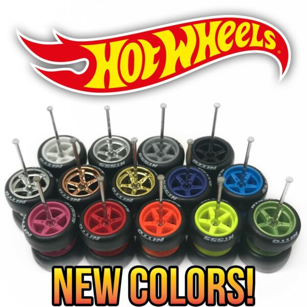 Hot Wheels 5 SPOKE NEW Real Riders Wheels and Tires Set for 1 64 Scale Customs $6.99