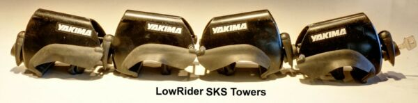 YAKIMA LowRider Towers 4 with SKS Locks for Roof Rack System $78.00