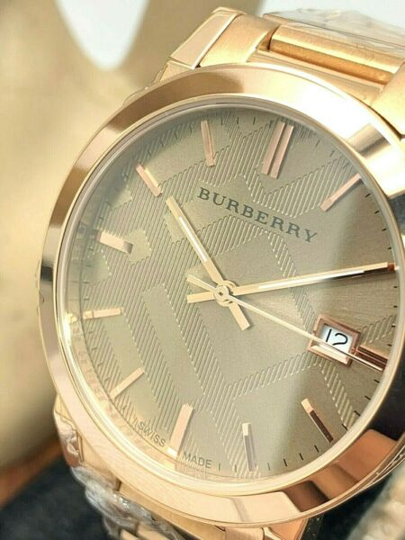 Burberry Women#x27;s Watch BU9039 The City Rose Gold Tone Stainless Steel 38mm Case $134.99