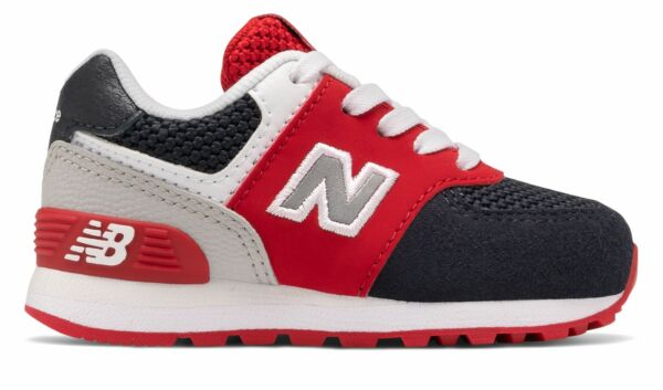 New Balance Infant 574 Shoes Blue with Red $24.99