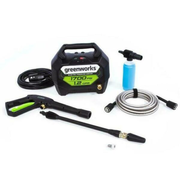 Greenworks GPW1704 1700 PSI 1.2 GPM Cold Water Electric Pressure Washer NEW