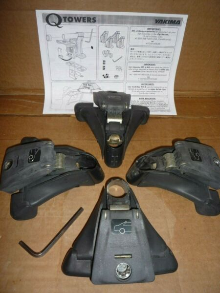 Four Yakima Q Towers with Instructions and Installation Wrench $49.99