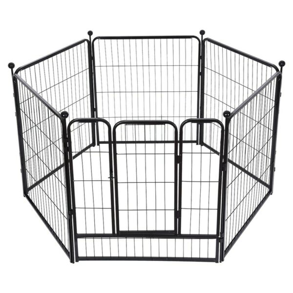 32 Inch 8 Panels Tall Dog Playpen Large Crate Fence Pet Play Pen Exercise Cage