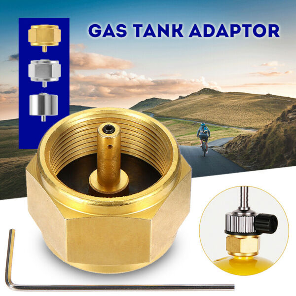 Copper MAPP Gas Adapter Stove Connector Gas Tank Adapter Camping Stove