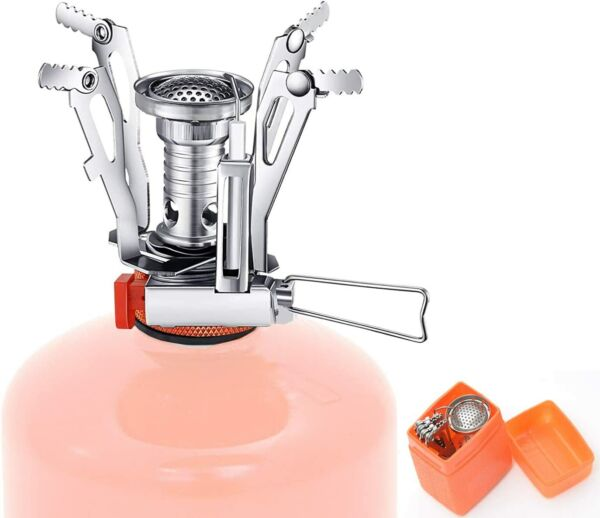 Camping Stove Portable Gas Burner Backpacking Propane Cooker Small Outdoor