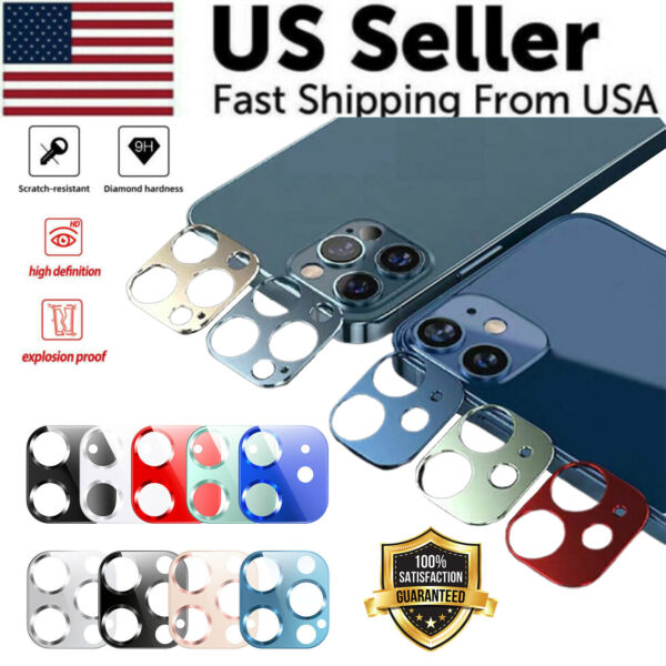 For iPhone 12 Pro Max Mini FULL COVER Tempered Glass Camera Lens Protector Rear $4.29