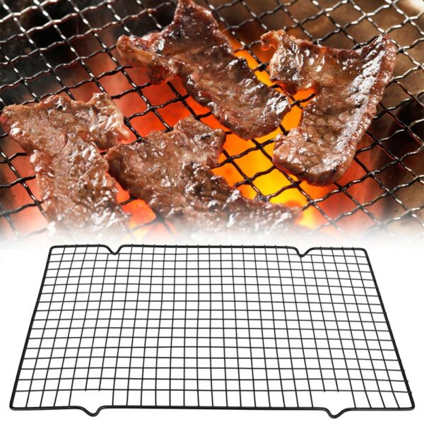 BBQ Grill Grate Grid Metal Wire Mesh Rack Grilled Net Outdoor Camping Picnic