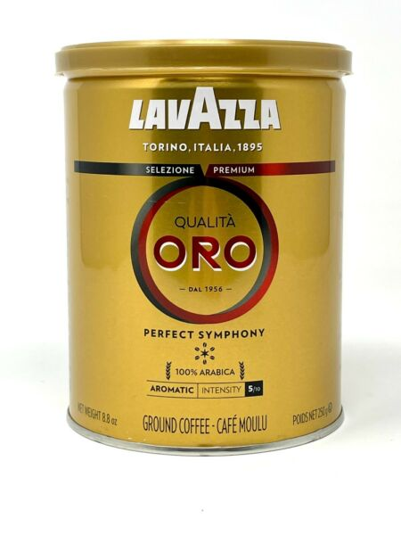 LavAzza Qualita Oro Ground Coffee Tin 8.8 oz Canister Made in Italy SHIPS FREE