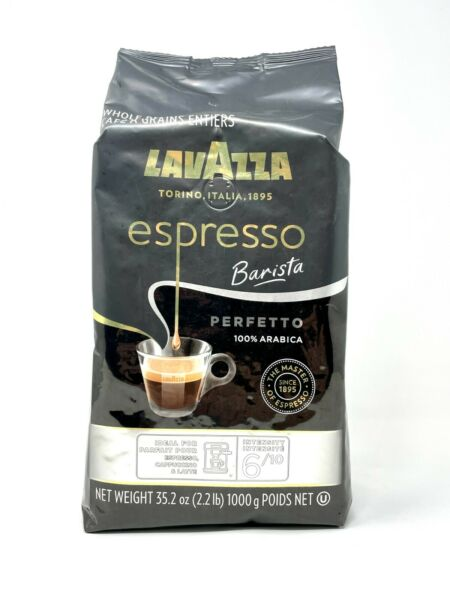 Lavazza Espresso Barista Perfetto Whole Bean Coffee 100% Arabica Medium Roast