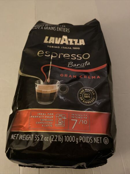 35.2 oz Lavazza Espresso Barista Gran Crema Whole Bean Coffee EXP 07 30 22