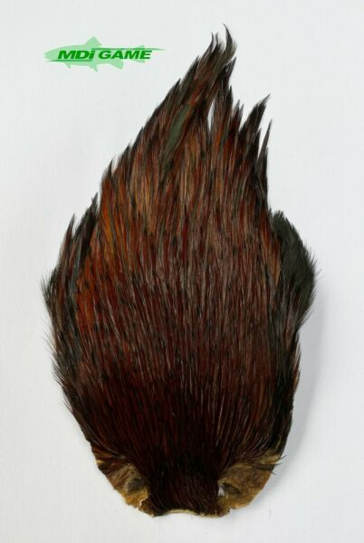 MDI Game Fishing Quality Grade A Natural Furnace Indian Cock Cape Fly Tying K1 GBP 7.95