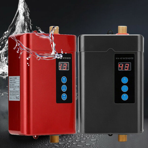3000W Instant Electric Hot Water Heater Tankless Kitchen Bathroom Shower110V Red $72.00