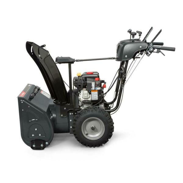 Two Stage Gas Snow Blower 24 in. Steerable with Electric Start and Chute Control