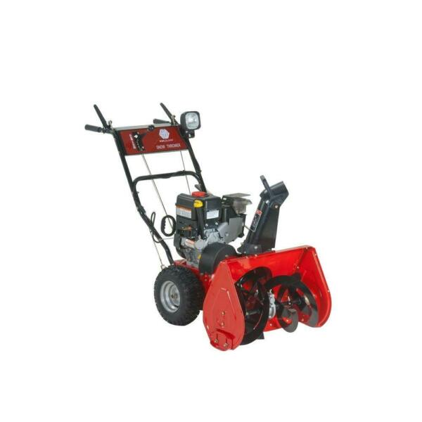 Two Stage Gas Snow Blower 22 in. 6.5 HP Electric Start with Wheel Drive Traction