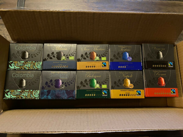 100 Real Coffee Capsules Variety Pack Nespresso Compatible