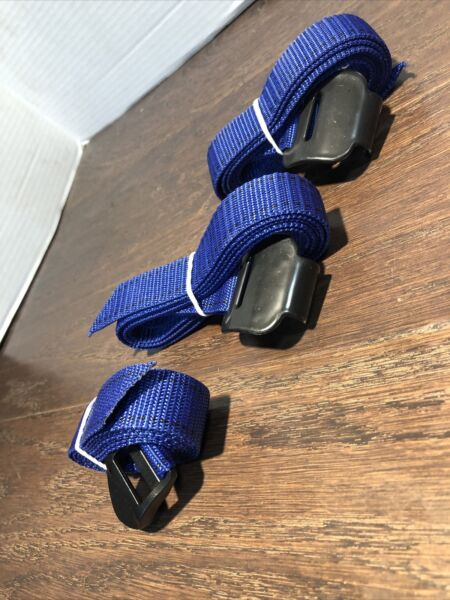 LOT Of 3 NEW BLUE STRAPS For Thule Passage 3 Bike Car Trunk Rack 910XT 911XT $19.19
