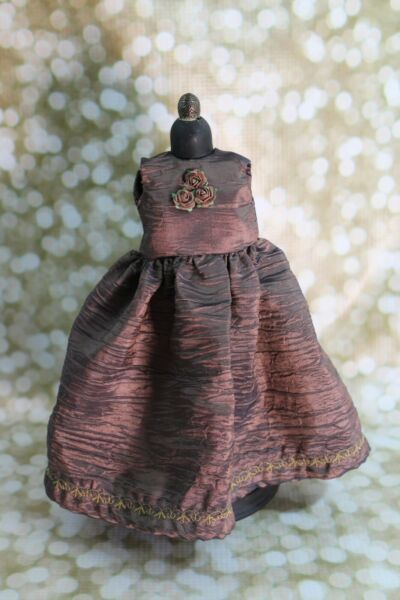 Brown Crushed Taffeta Doll Dress for Dianna Effner Dolls amp; Other 13quot; Dolls