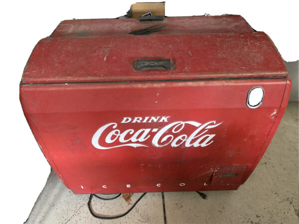 coca cola coke vintage vending machine