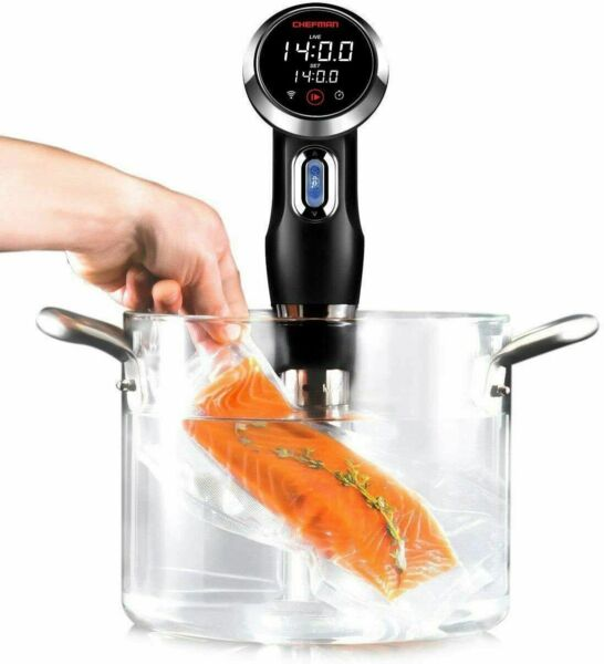 Chefman Sous Vide Circulator Precision Cooker with Bluetooth amp; Wi Fi