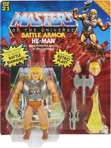 Masters of the Universe Origins: Battle Armor He Man Deluxe Figure Set MOTU
