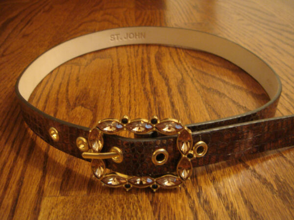 ST. JOHN BELT with BEJEWELED BUCKLE size P
