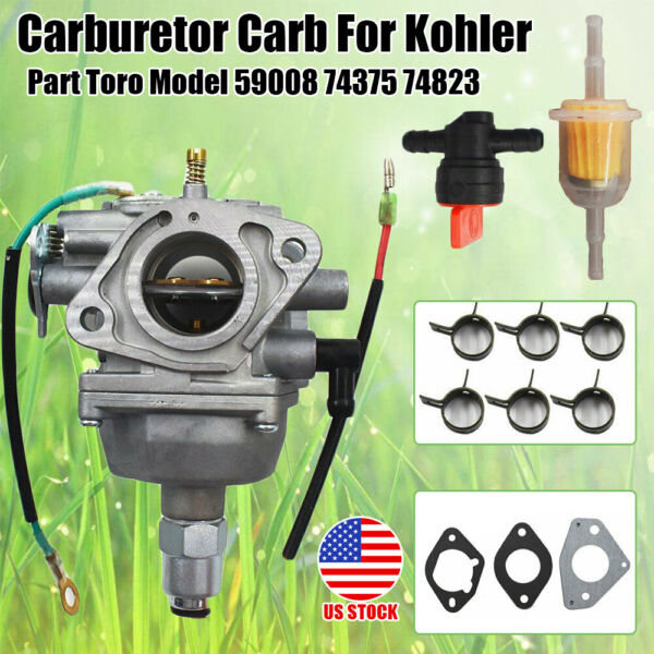 Carburetor Fits For Kohler Toro Model 59008 74375 74823 Engine Carb w 3x Gasket