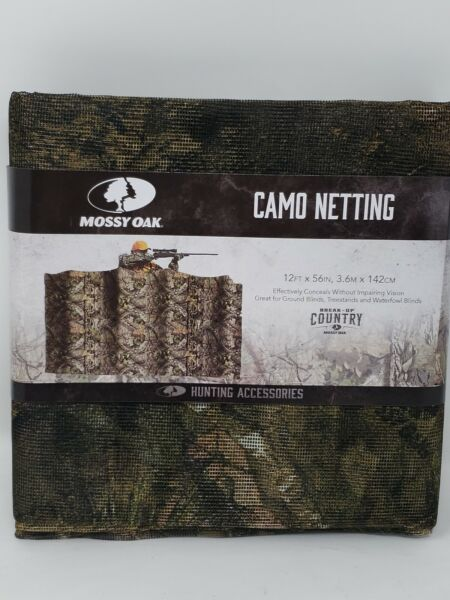 Mossy Oak Break Up Country Camo Netting Blind Material 12ft x 56in Treestands