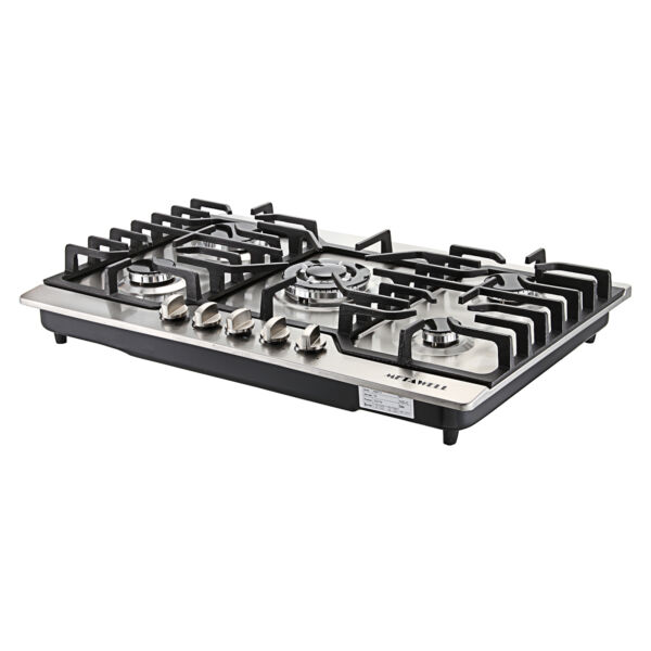 5 Burners Gas Stove 30quot; Built In Gas Cooktop Stainless Steel Natural Gas Cooker