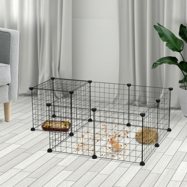 12 Pcs Portable Metal Dog Pet Playpen Crate Animal Yard Fence Exercise Cage New $23.99