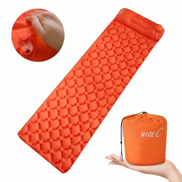 Ultralight Sleeping Pad Self Inflatable Camping Mat Foldable Camping Foam Pad $25.99