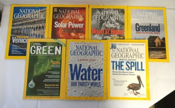 7 x National Geographic Magazines 2009 2010 Special Issue amp; Green Supplement
