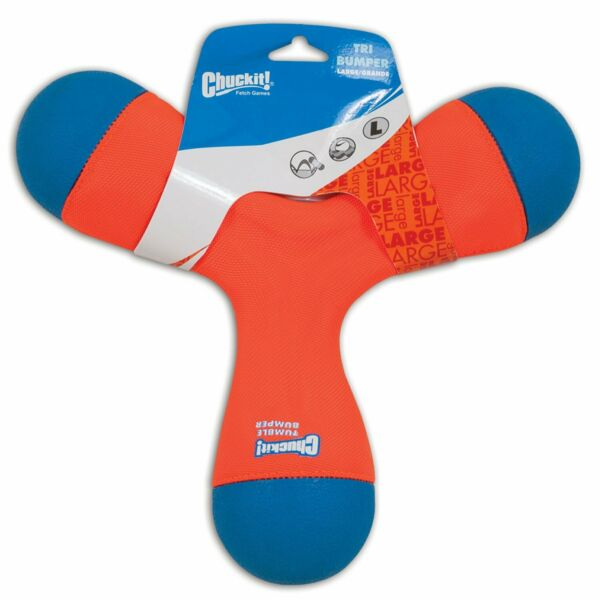 Chuckit TRI BUMPER Dog Fetch Toy Large Boomerang Choose to Tug Toss or Bounce $15.52