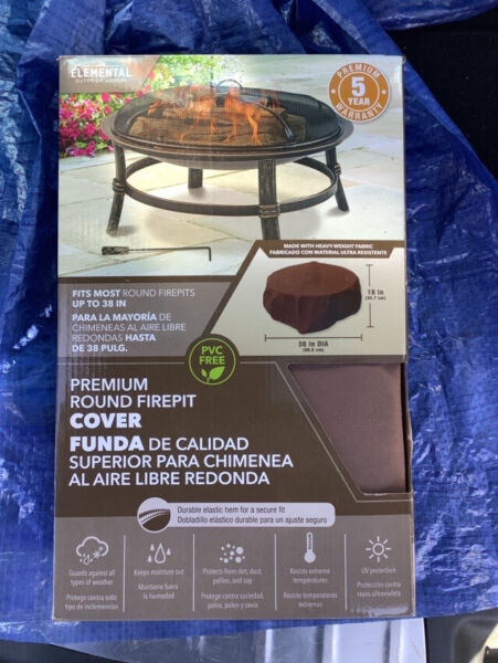Elemental Outdoor Covers Brown Patio Fire Pit Cover 18in 38in $30.00