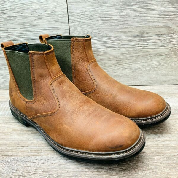 Timberland Earthkeepers Men#x27;s Tremont Chelsea Boot Brown Leather Size US 13 $65.95