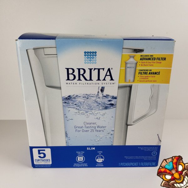 New Brita Slim 5 Cup Water Filter Pitcher 1 Advanced Filter Included