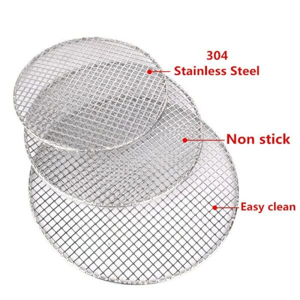 Barbecue BBQ Grill Round Wire Net Meshes Racks Grid Stainless Steel For Camping