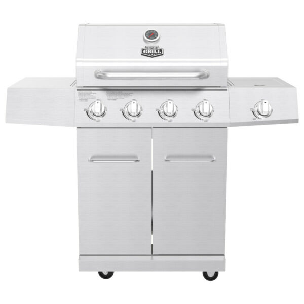 Gas Grill Stainless Steel 4 Burner Outdoor Patio Grill Propane Barbeque Grill