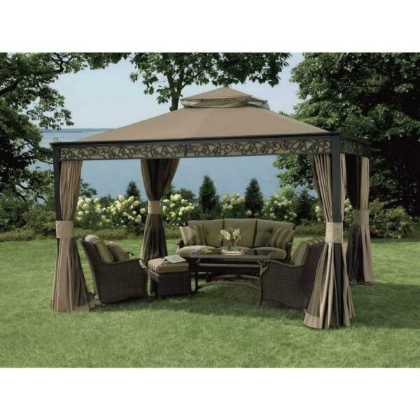 Sunjoy Replacement Curtain for Bixby Gazebo 10X12 Ft