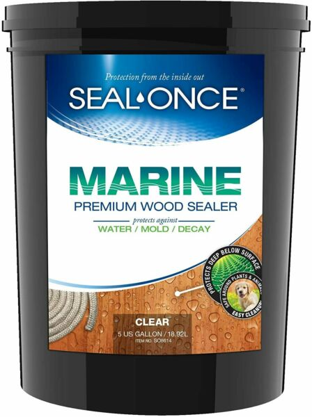 Seal Once Marine Premium Wood Sealer 8614 Clear 5 Gallons $319.99