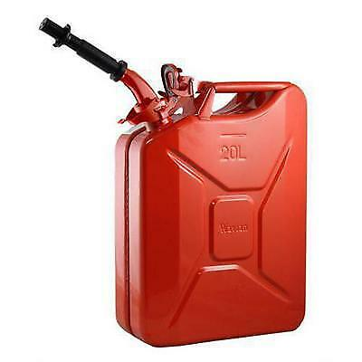 Wavian Steel Gas Can with Spout JC0020RVS